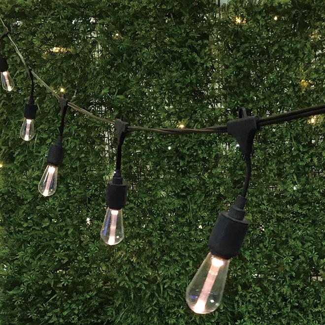 Jeu de 10 lumières sur fil DEL, blanc chaud, Edison