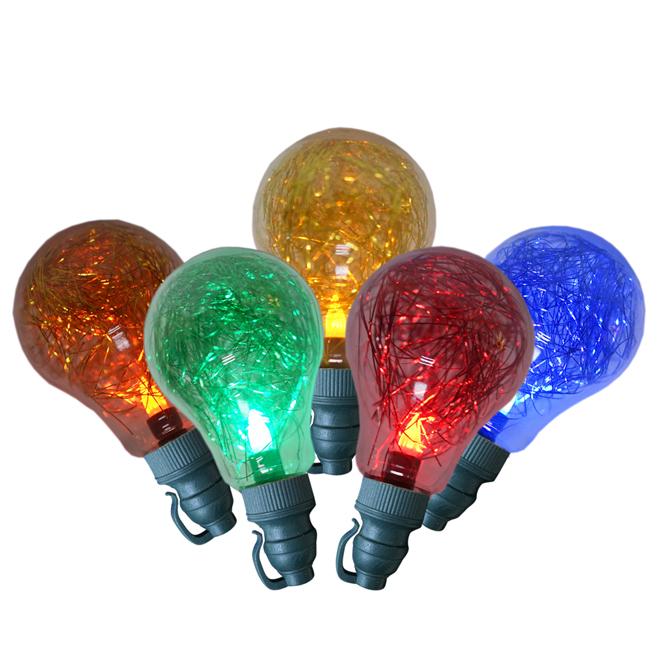 Shimmering Light Set - 10 Lights - A19 - LED - Multicoloured