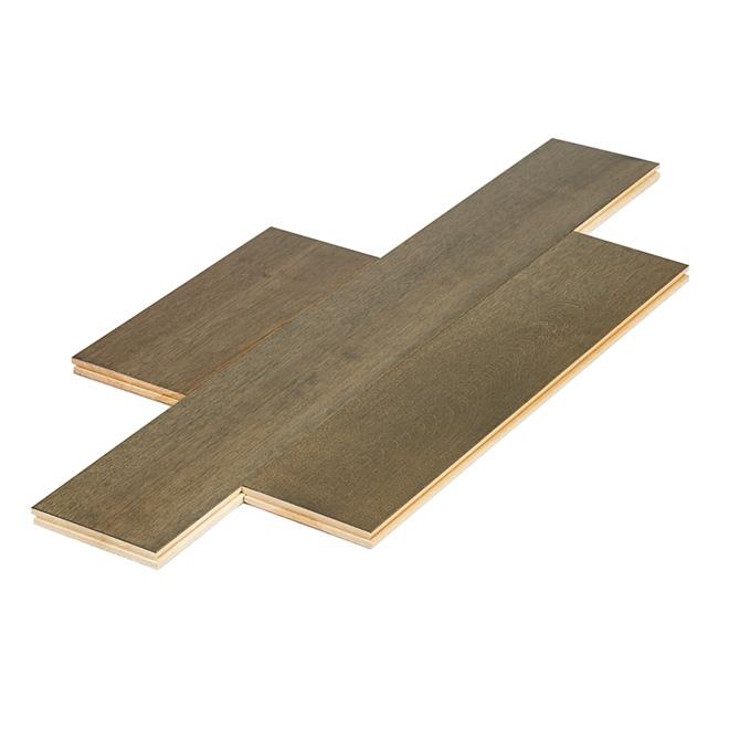 Plancher de bois franc préhuilé en merisier Heritage Accent, 3/4 x 5 1/4 po, Petra