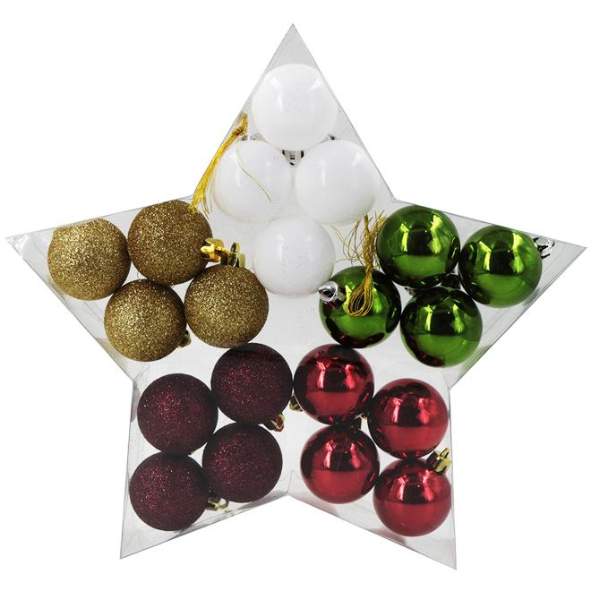 Christmas Ball Set - Plastic - Multicolor - 20/Pk