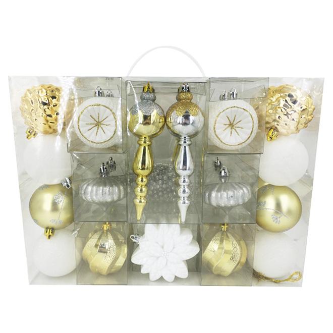 Christmas Tree Ornament Set - Plastic - Multicolor - 35/Pk