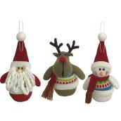 "Tree Hanging Plush Ornaments - 7"" - Assorted"