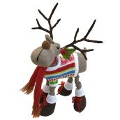 Festive Reindeer Wearing Sweater and Shoes - 12""