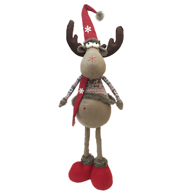 """Tall Festive Reindeer Wearing a Sweater and Boots - 48"""""""