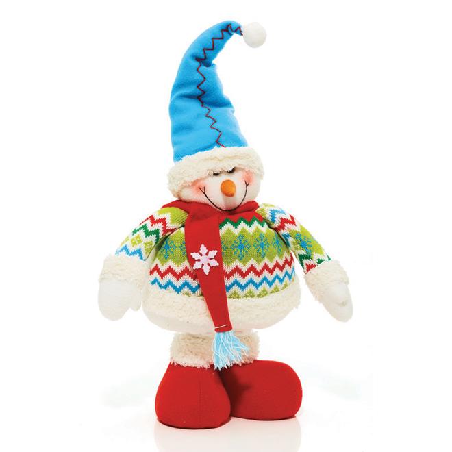 Figurine en peluche, bonhomme de neige, 27,95''