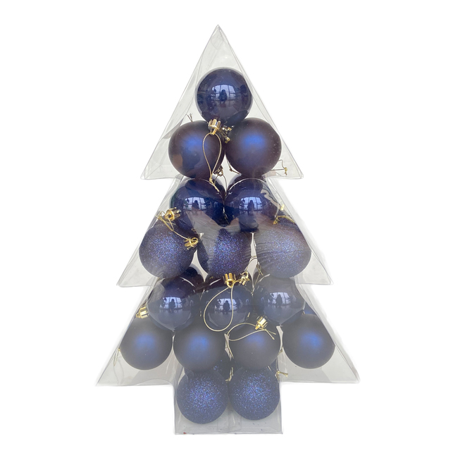 Holiday Living Christmas Balls - Chill Factor - Blue - 34/Pack