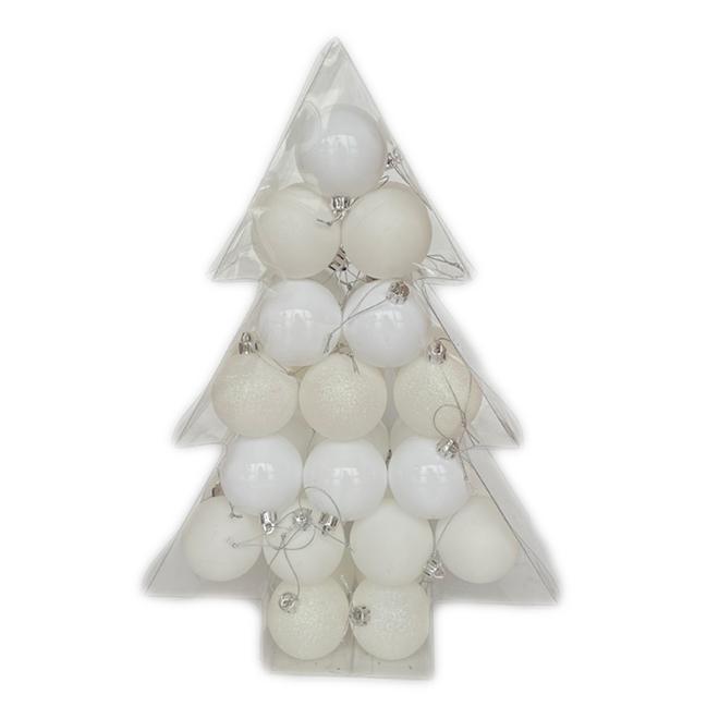 Holiday Living Christmas Balls - Snow Angel - White - 34/Pack