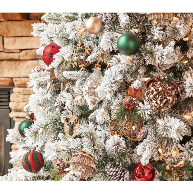 Holiday Living Christmas Balls - Rustic Tidings - Multicolour - 30/Pack