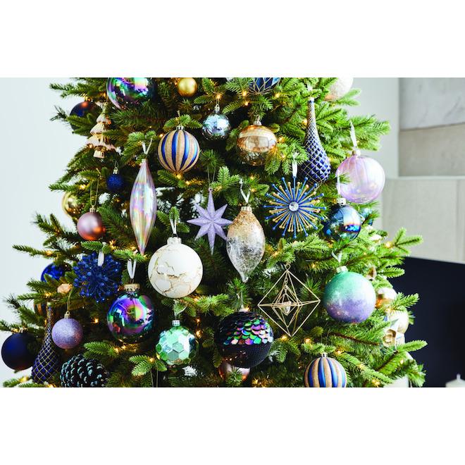 Robelli Lot de 12 d/écorations /à suspendre pour sapin de No/ël Motif c/œurs blancs