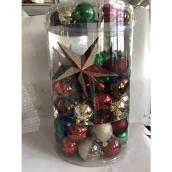 Holiday Living Mixed Christmas Ball Ornaments - Shatterproof - Plastic - Red/Green/Gold - 110/Pack