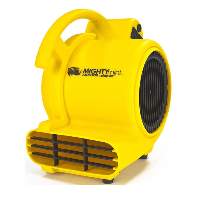 Shop-Vac Portable Air Mover - 120 V - 500 CFM - Yellow