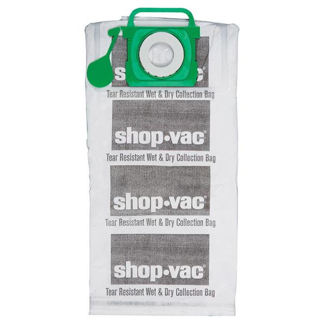 Sacs filtres pour aspirateur Shop-Vac, tissu, 12 à 20 gal, paquet de 2