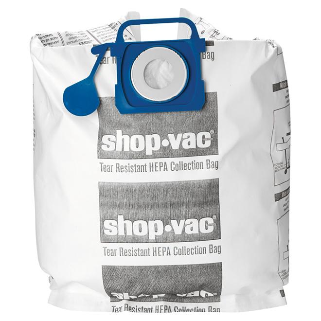 HEPA Vacuum Filter Bags - 18 to 37 L - Pack of 2