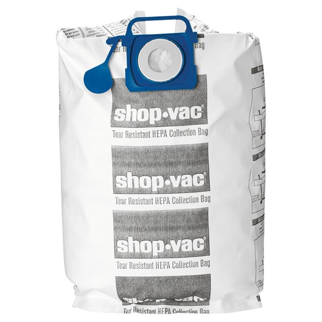 HEPA Vacuum Filter Bags - 45 to 75 L - Pack of 2