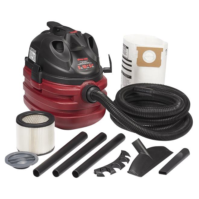 Aspirateur sec/humide 18,9 L, 5,0 HP