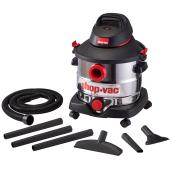 Wet and Dry Vacuum  - 6 HP - Stainless Steel Tank - 8 Gal