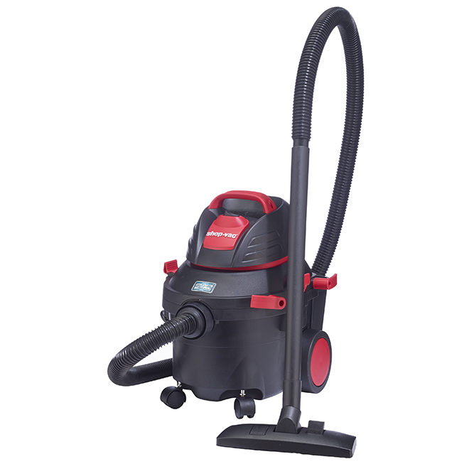 Wet and Dry Vacuum - 5.5 HP - 15.1 L - Red/Black