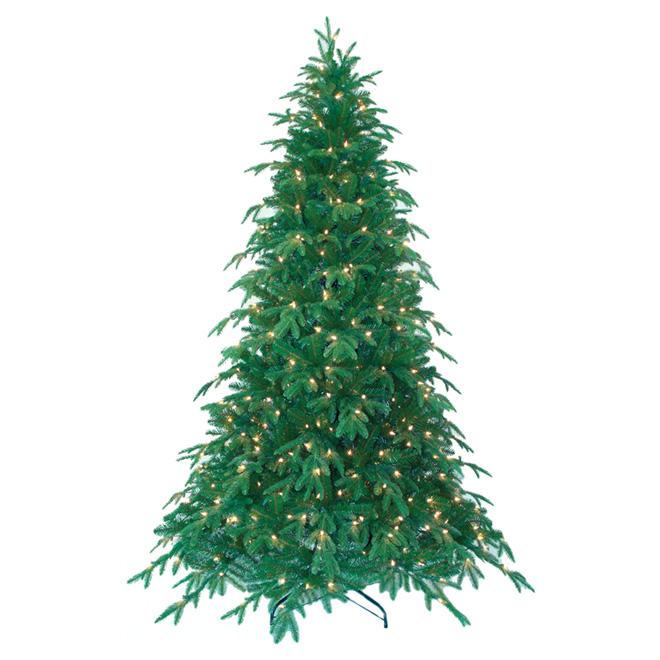 Arbre de Noël illuminé, 400 lumières, 2 371 pointes, 7,5 pi