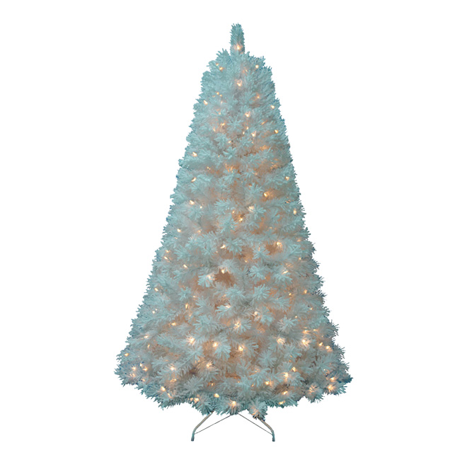 White Christmas Tree.Pre Lit Christmas Tree 450 Lights 733 Tips 7 5