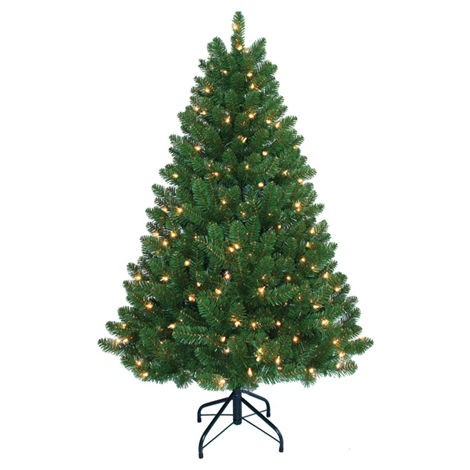 UBERHAUS Pre-Lit Christmas Tree - 200 Lights - 435 Tips - 4.5' 6551 ...