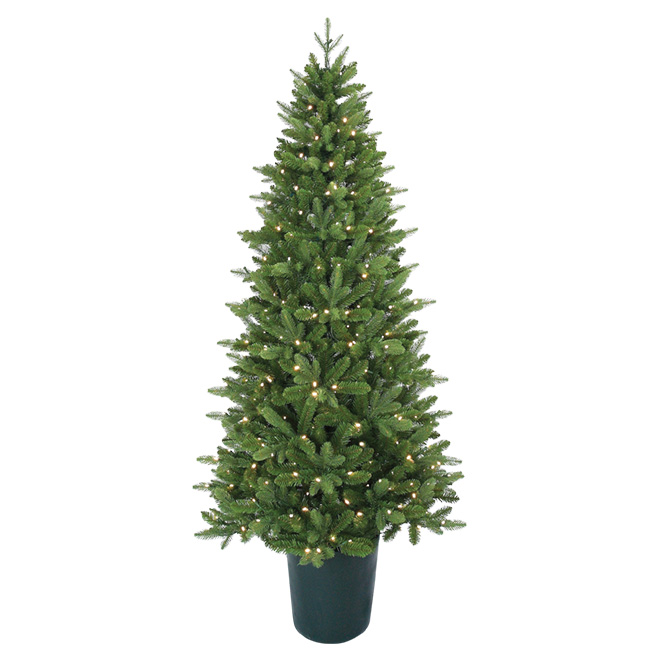 Arbre de Noël illuminé, 350 DEL, 1035 pointes, 7'