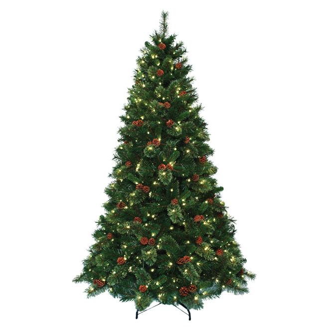Arbre de Noël illuminé, 500 lumières, 1002 pointes, 7,5'