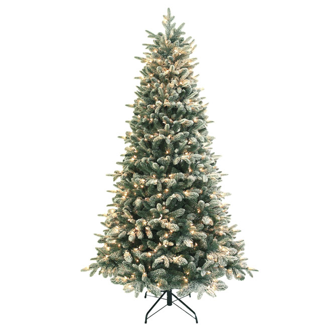 UBERHAUS Pre-Lit Christmas Tree - 500 Lights - 1633 Tips - 7.5' 6551 ...