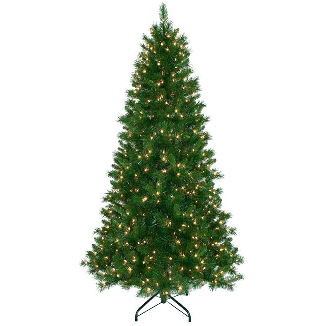 Illuminated Tree - 800 Tips - 7.5' - PVC - Green