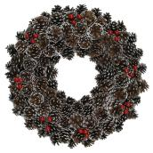 "Pine Cone Wreath - 20"" - Brown"