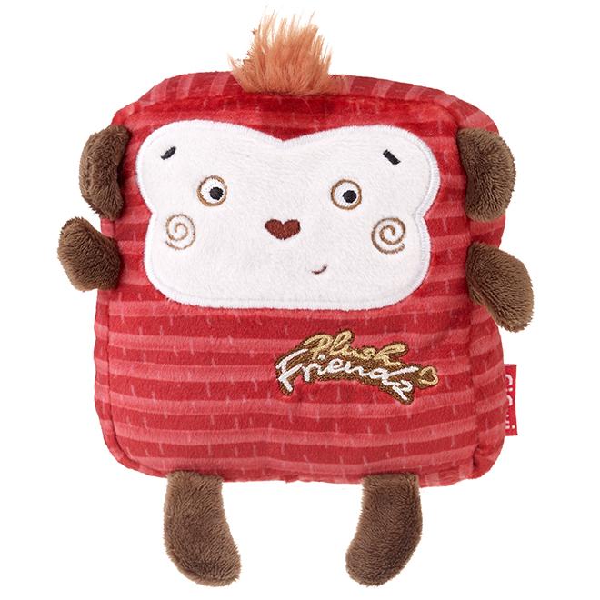Dog Toy - Polyester Monkey - Red