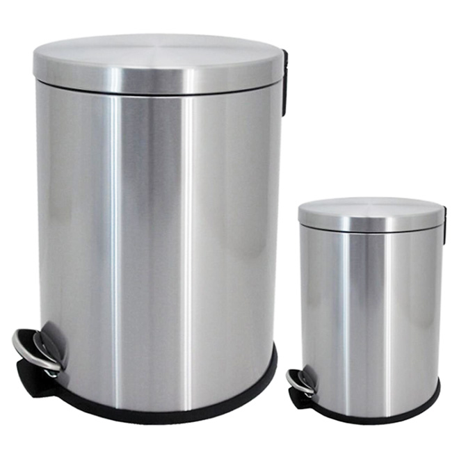 Set of 2 Garbage Cans - 5 L and 20 L