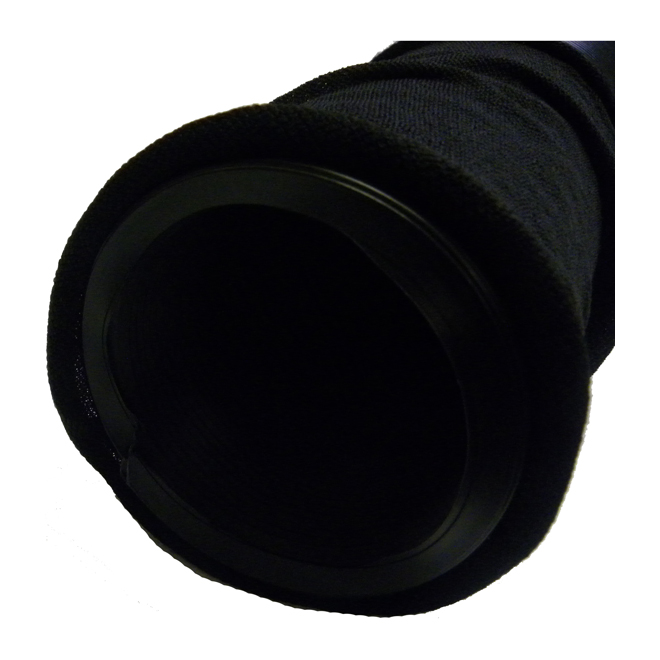 """Universal Drainage Pipe with Sock - 4"""" X 20' - Black"""