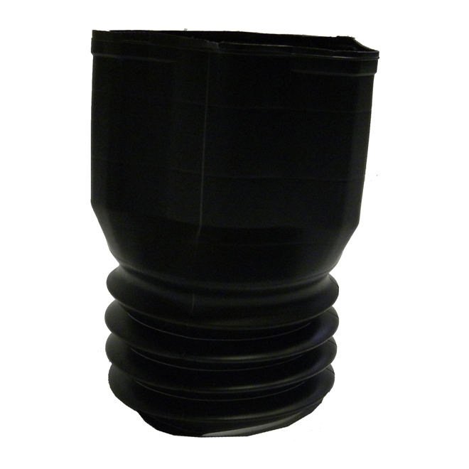 """Downspout Adapter - 3"""" X 4"""" - Black"""