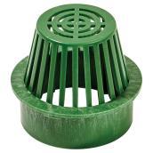 """Grille atrium de 6"""" en plastique vert"""