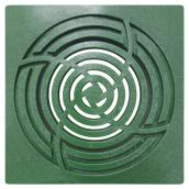 "Square Grate - ""Bullet Pit"" - 6"" - Green"