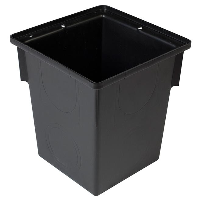 "Catch Basin - 9"" X 13"" - Plastic - Black"
