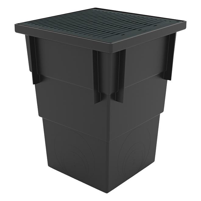 Bassin de capture profond avec grille noire RELN, 13 po x 13 po x 17 po, capacité de 7 lb