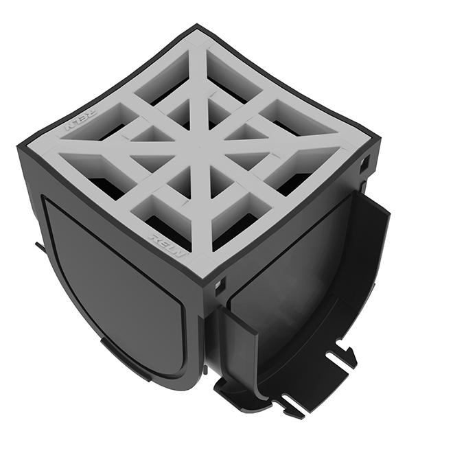 Adaptateur 4 voie avec grille Storm Drain RELN, grille girse