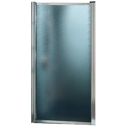 Maax Raindrop Glass Shower Door - Framed - Chrome - 24 3/4-in W x 64 1/2-in H