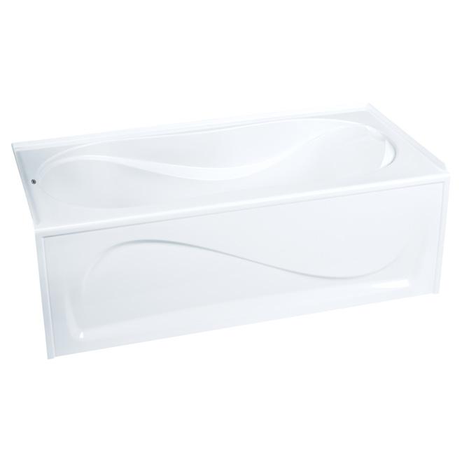 Baignoire «Cocoon» en acrylique, gauche, 30 x 60'', blanc