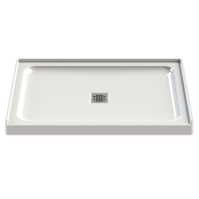 "Olympia Shower Base - Acrylic - Center Drain - 48""x32""- White"