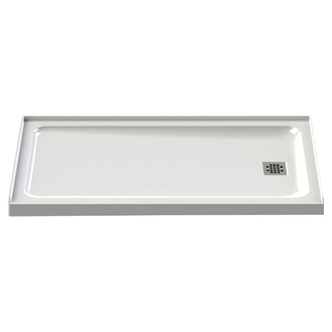 "Olympia Shower Base - Acrylic - Right Drain - 60""x32"" - White"