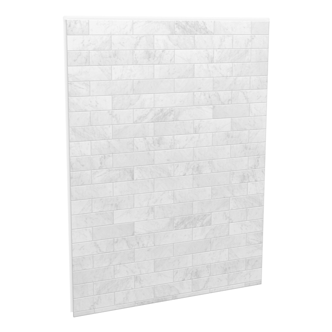 Maax Utile Shower Wall - Back Panel - 60-in x 80-in - Composite - Carrara