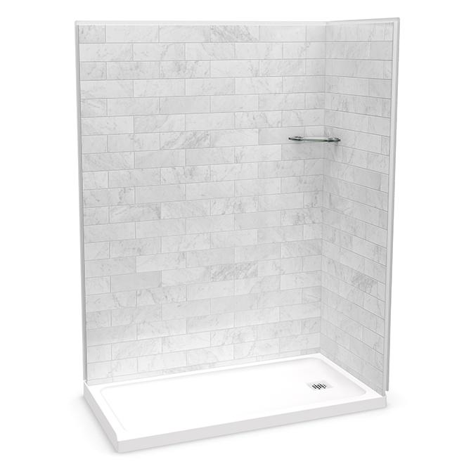 """MAAX Utile Shower Back Wall Panel - 60"""" x 80"""" - Carrara ..."""