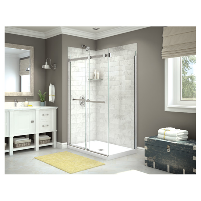 "Utile Shower Back Wall Panel - 48"" x 80"" - Carrara"