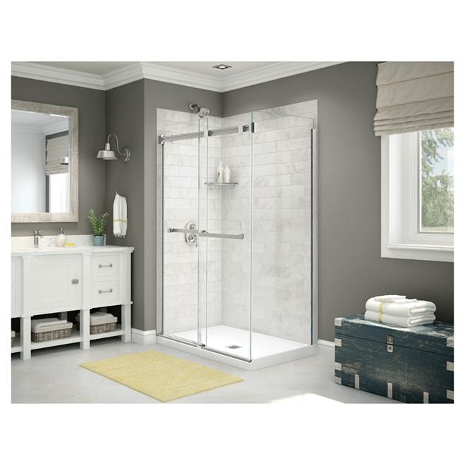 Maax Duel Shower Sliding Door - Frameless - Tempered Glass - Lotus Water-Repellent Coating