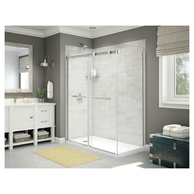 """Sliding Shower Door - 60"""" X 74"""" - Chrome Finish"""