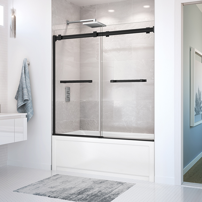 Tub Shower Door Duel Maax - 56'' x 59'' - Matte Black