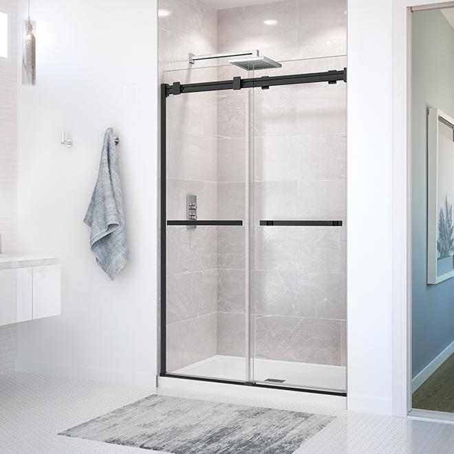 Porte de douche Duel Maax, 48'' x 74'', noir mat