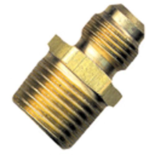 "Flare Union - Brass - 3/8"" x 3/8"" - Flare x MIP Half"